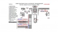 Ford Mustang 2005, 2006, 2007, 2008, 2009, Automatic, Full Interior Kit, Doesn't Cover Aluminum OEM, 29 Pcs.