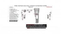 Ford Mustang 2010, 2011, 2012, 2013, 2014, Without Navigation System, Main Interior Kit, 19 Pcs.