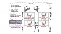 Ford Explorer Sport Trac 2001-2002, Basic Interior Kit, With Center Console Interior Kit, 15 Pcs.