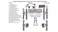 Ford Explorer Sport Trac 2004-2005, Full Interior Kit, With Center Console Interior Kit, 30 Pcs.
