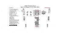 Ford Taurus 2010, 2011, 2012, Basic Interior Kit (Regular Kit Or Match OEM), 32 Pcs.