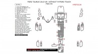 Ford Taurus 2013, 2014, 2015, 2016, 2017, Without MyFord Touch, Main Interior Kit, 34 Pcs.