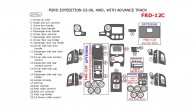 Ford Expedition 2003, 2004, 2005, 2006, Interior Kit, Non-Eddie Bauer Edition, 4WD, With Advance Track, 23 Pcs.