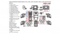 Ford Expedition 2003, 2004, 2005, 2006, Interior Kit, Eddie Bauer Edition, With Navigation, 4WD, With Advance Track, 29 Pcs.