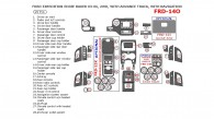 Ford Expedition 2003, 2004, 2005, 2006, Interior Kit, Eddie Bauer Edition, With Navigation, 2WD, With Advance Track, 29 Pcs.