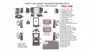 Ford F-150 2002-2003, Harley Davidson Edition, Full Interior Kit, With Sunroof, 34 Pcs.