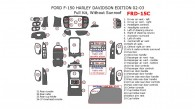 Ford F-150 2002-2003, Harley Davidson Edition, Full Interior Kit, Without Sunroof, 37 Pcs.