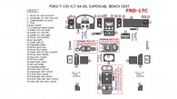Ford F-150 2004, 2005, 2006, 2007, 2008, Interior Dash Kit, XLT, SuperCab, Bench Seat, 45 Pcs.