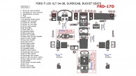 Ford F-150 2004, 2005, 2006, 2007, 2008, Interior Dash Kit, XLT, SuperCab, Bucket Seats, 51 Pcs.