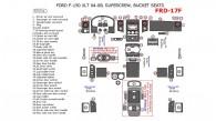 Ford F-150 2004, 2005, 2006, 2007, 2008, Interior Dash Kit, XLT, SuperCrew, Bucket Seats, 53 Pcs.