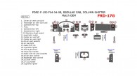 Ford F-150 2004, 2005, 2006, 2007, 2008, FX4, Interior Dash Kit, Regular Cab, Column Shifter, 38 Pcs., OEM Match