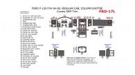 Ford F-150 2004, 2005, 2006, 2007, 2008, FX4, Regular Cab, Column Shifter, Covers OEM Interior Trim Kit, 47 Pcs.