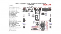 Ford F-150 2004, 2005, 2006, 2007, 2008, Interior Kit,  Lareat/King Ranch, SuperCab, Floor Shifter, 42 Pcs., OEM Match