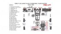 Ford F-150 2004, 2005, 2006, 2007, 2008, Interior Kit,  Lareat/King Ranch, SuperCrew, Floor Shifter, 42 Pcs., OEM Match.