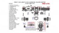 Ford F-150 2004, 2005, 2006, 2007, 2008, LARIAT/KING RANCH, SuperCab, Column Shifter, Covers OEM Interior Trim Kit, 47 Pcs.