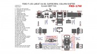 Ford F-150 2004, 2005, 2006, 2007, 2008, Interior Kit,  Lareat/King Ranch, SuperCrew, Column Shifter, Covers OEM Trim, 49 Pcs.