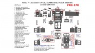 Ford F-150 2004, 2005, 2006, 2007, 2008, Interior Dash Kit, LARIAT/KING RANCH, SuperCrew, Floor Shifter, Covers OEM Trim, 50 Pcs.