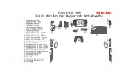 Ford F-150 1999, Regular Cab, Full Interior Kit, With Arm Rest, Regular Cab, With Glove Box, 25 Pcs.