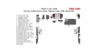 Ford F-150 1999, Regular Cab, Full Interior Kit, Without Arm Rest, Regular Cab, With Glove Box, 25 Pcs.