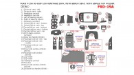 Ford F-150 2000, 2001, 2002, 2003, Interior Dash Kit, Regular, With Bench Seat, With Single Cup Holder, 26 Pcs.