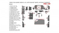 Ford F-150 2000, 2001, 2002, 2003, Interior Dash Kit, With Bucket Seats, Without Sunroof, 33 Pcs.