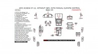 GMC Acadia 2007, 2008, 2009, 2010, 2011, 2012, Without OEM, With Manual Climate Control, Basic Interior Kit, 44 Pcs.