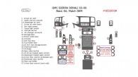 GMC Sierra Denali 2003, 2004, 2005, 2006, Basic Interior Kit, 27 Pcs., OEM Match.