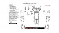GMC Terrain 2010, 2011, 2012, 2013, 2014, 2015, 2016, 2017, Basic Interior Kit, 31 Pcs.