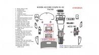 Honda Accord 2001-2002, Coupe, Full Interior Kit, 28 Pcs.