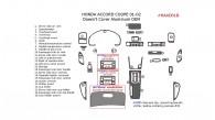 Honda Accord 2001-2002, Interior Dash Kit, Coupe, Does not Cover Aluminum OEM, 25 Pcs.