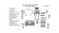 Honda Accord 2001-2002, Interior Dash Kit, Coupe, 23 Pcs., Match OEM (Wood)