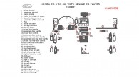 Honda CR-V 2005-2006, Full Interior Kit, With Single CD Player, 38 Pcs.