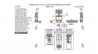 Honda CR-V 2007, 2008, 2009, 2010, 2011, With Navigation System, Basic Interior Kit, 35 Pcs.