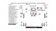 Honda CR-V 2017-2018, For Models With Digital Climate Control, Basic Interior Kit, 46 Pcs.