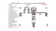 Honda Element 2003, 2004, 2005, 2006, DX LX, With Automatic Transmission, Full Interior Kit, 38 Pcs.