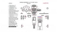 Honda Element 2007, 2008, 2009, 2010, 2011, LX/DX, Full Interior Kit, 47 Pcs.