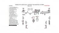 Honda Fit 2009, 2010, 2011, 2012, 2013, 2014, Without Navigation System, Main Interior Kit, 37 Pcs.