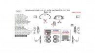 Honda Odyssey 2005, 2006, 2007, 2008, 2009, 2010, With Navigation, Basic Interior Kit, 26 Pcs.