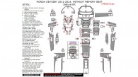 Honda Odyssey 2011, 2012, 2013, Without Memory Seat, Deluxe Interior Kit, 85 Pcs.
