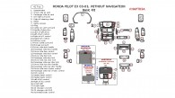 Honda Pilot EX 2003, 2004, 2005, Basic Interior Kit, Without Navigation System, 41 Pcs.
