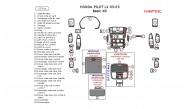 Honda Pilot LX 2003, 2004, 2005, Basic Interior Kit, 33 Pcs.