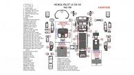 Honda Pilot LX 2003, 2004, 2005, Full Interior Kit, 57 Pcs.