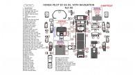 Honda Pilot EX 2003, 2004, 2005, Full Interior Kit, With Navigation System, 61 Pcs.