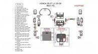 Honda Pilot 2006, 2007, 2008, LX, Basic Interior Kit, 32 Pcs.