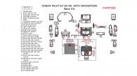 Honda Pilot 2006, 2007, 2008, EX, Basic Interior Kit, With Navigation System, 35 Pcs.
