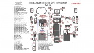 Honda Pilot 2006, 2007, 2008, EX, Full Interior Kit, With Navigation System, 57 Pcs.