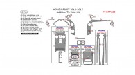 Honda Pilot 2012, 2013, 2014, 2015, Addition To Main Interior Kit, 18 Pcs.