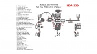 Honda CR-V 2002, 2003, 2004, Full Interior Kit, With 6 CD Changer, 39 Pcs.