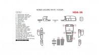 Honda Accord 1994, 1995, 1996, 1997, 4 Door, Interior Kit, 21 Pcs.