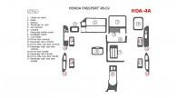 Honda Passport 1998, 1999, 2000, 2001, 2002, Full Interior Kit, 17 Pcs.